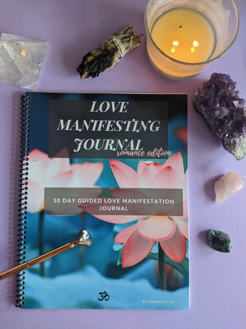 Love Manifestation Guided Journal - 90 Days From Now Manifestation Planner