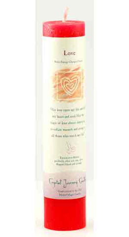 Love Reiki Charged Pillar Candle - 90 Days From Now Manifestation Planner