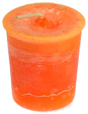 Sacral Chakra Votive Candle - 90 Days From Now Manifestation Planner