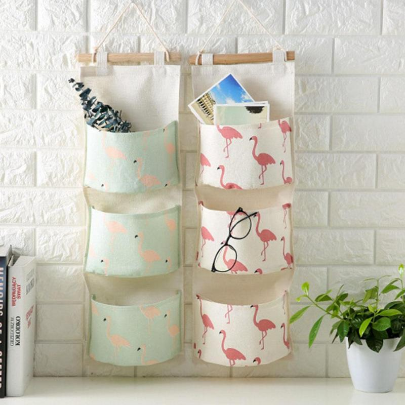 cool storage ideas for kids room, nursery diaper hanging storage, how do i get my kids to clean their room, how to organize kids room, bird theme storage container hanging bags, flamingo storage bags nordic theme storage for kids rooms nursery, nordic scandinavian kids storage canvas for bedroom nursery