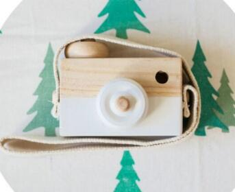 Wooden Camera Toys For Baby or Kids Room Decor