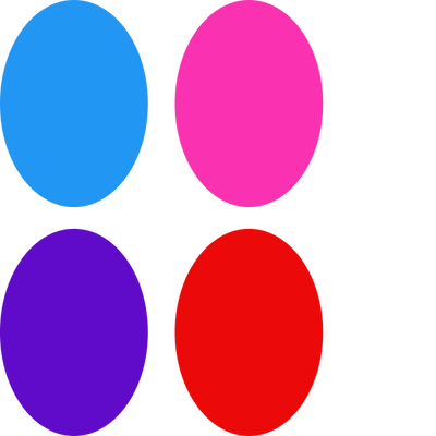 Bright Ovals - 4 Pack (for same device)