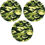 Green Camo Circle - 3 Pack (same device cut-out)