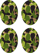 Green Camo Oval - 4 pack (same device cut-out)