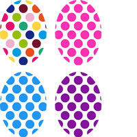 Polka Dot Oval - Assorted 4 Pack (all for same device)