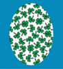 SHAMROCK PATTERN OVAL PATCH