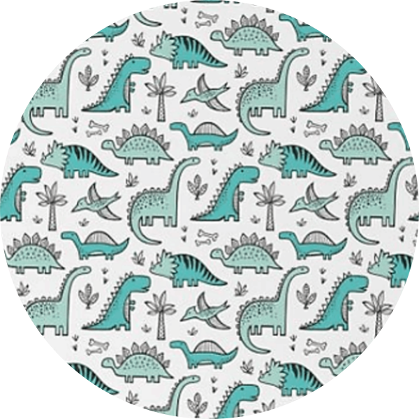 Teal Dinosaurs