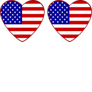 United States Flag Heart Shaped - 2 Pack (same device)
