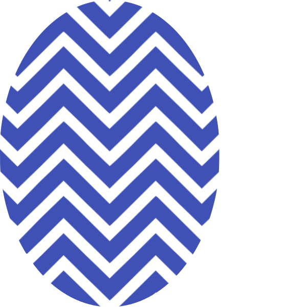 Blue Chevron Oval