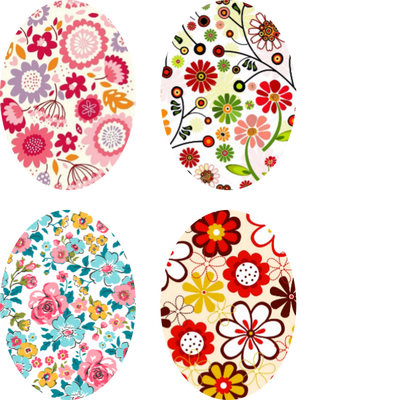 Bouquet of Love Oval - Assorted 4 Pack