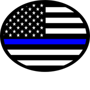 Thin Blue Line Oval -USA