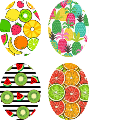 Tropical Fruit Oval - 4 Pack (same device cut)