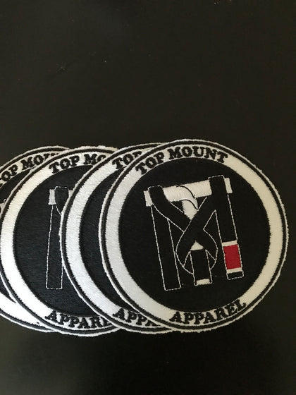 Top Mount Apparel and Proud BJJ White Belt Patches