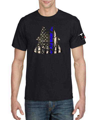 Blue Line Warriors Bleed Blue Police Tee