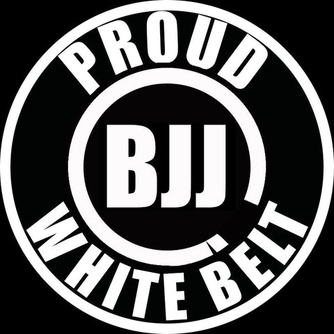 Proud BJJ White Belt Decal