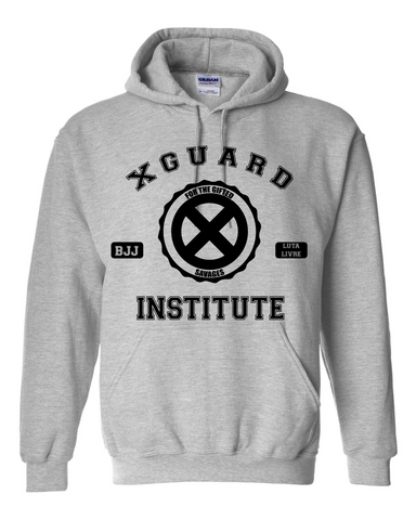 X Guard Institute for the gifted savages Jiu Jitsu Sports Grey Hoodie