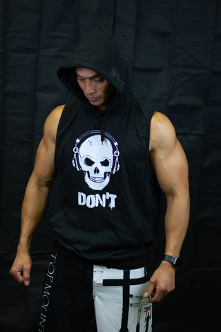 The DON'T (Do Not Disturb) Sleeveless Gym Hoodie