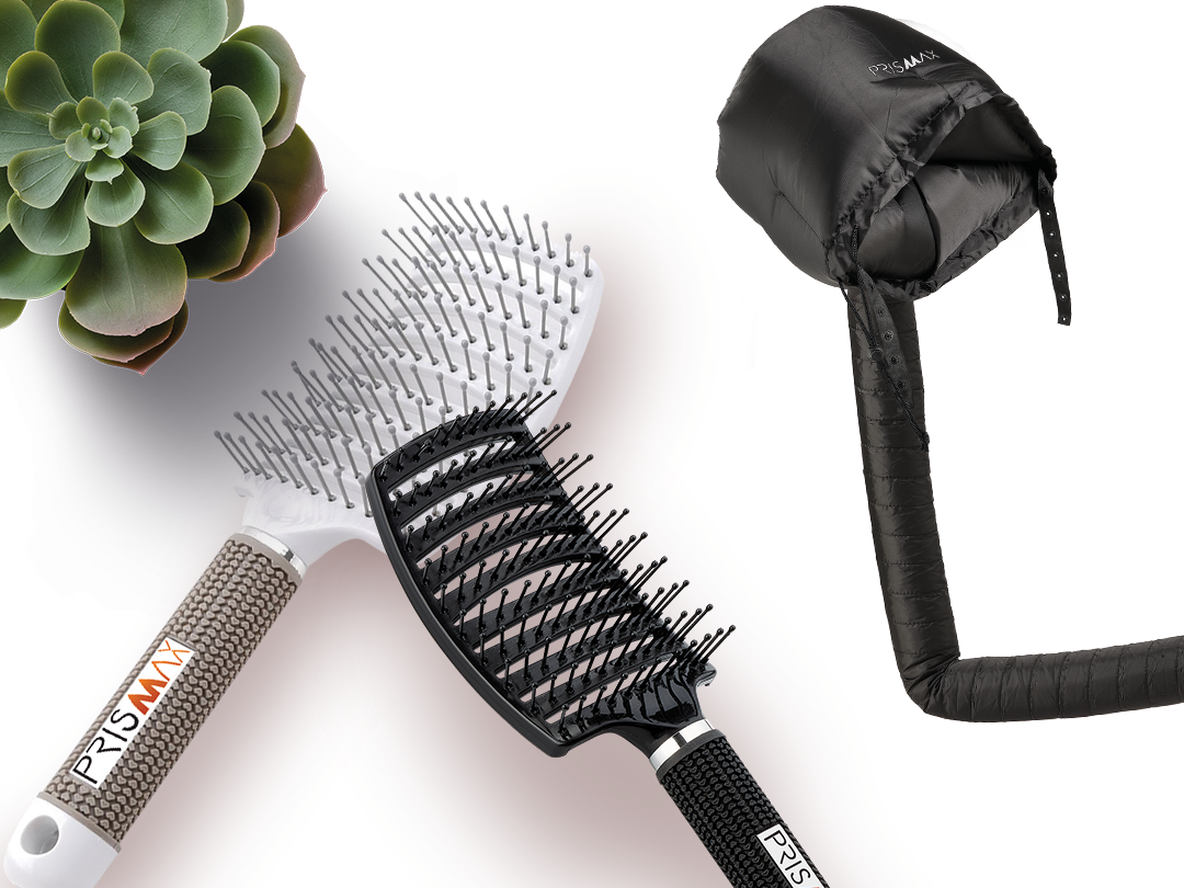 Prismax Hooded Hair Dryer Attachment and Brush