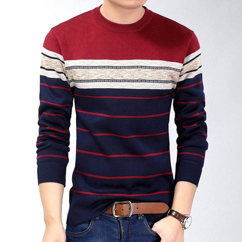Striped Slim Fit Sweater