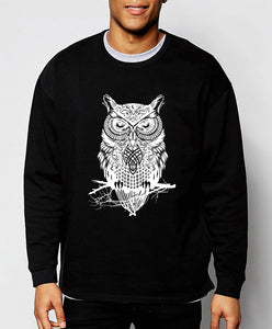 Black owl sweatshirt