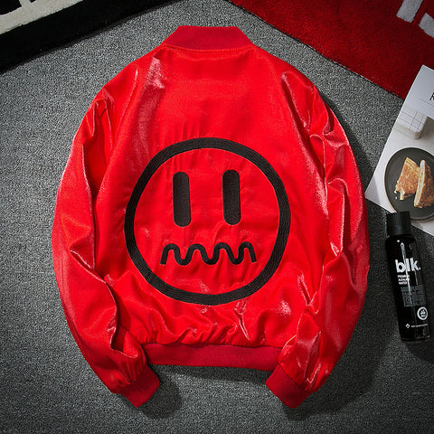 Smiley face Bomber Jacket