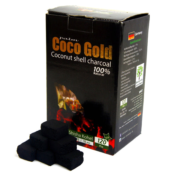 Coco-Gold Coco Charbon Coquille Nuturels 120 pcs