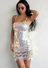 KELLIPS Sexy Sleeveless Sequined Club Dress