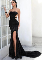 KELLIPS Backless High Split Maxi Elegant Party Dress