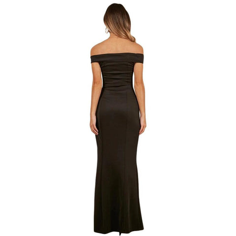 KELLIPS Black Evening Strapless Party Maxi Dress
