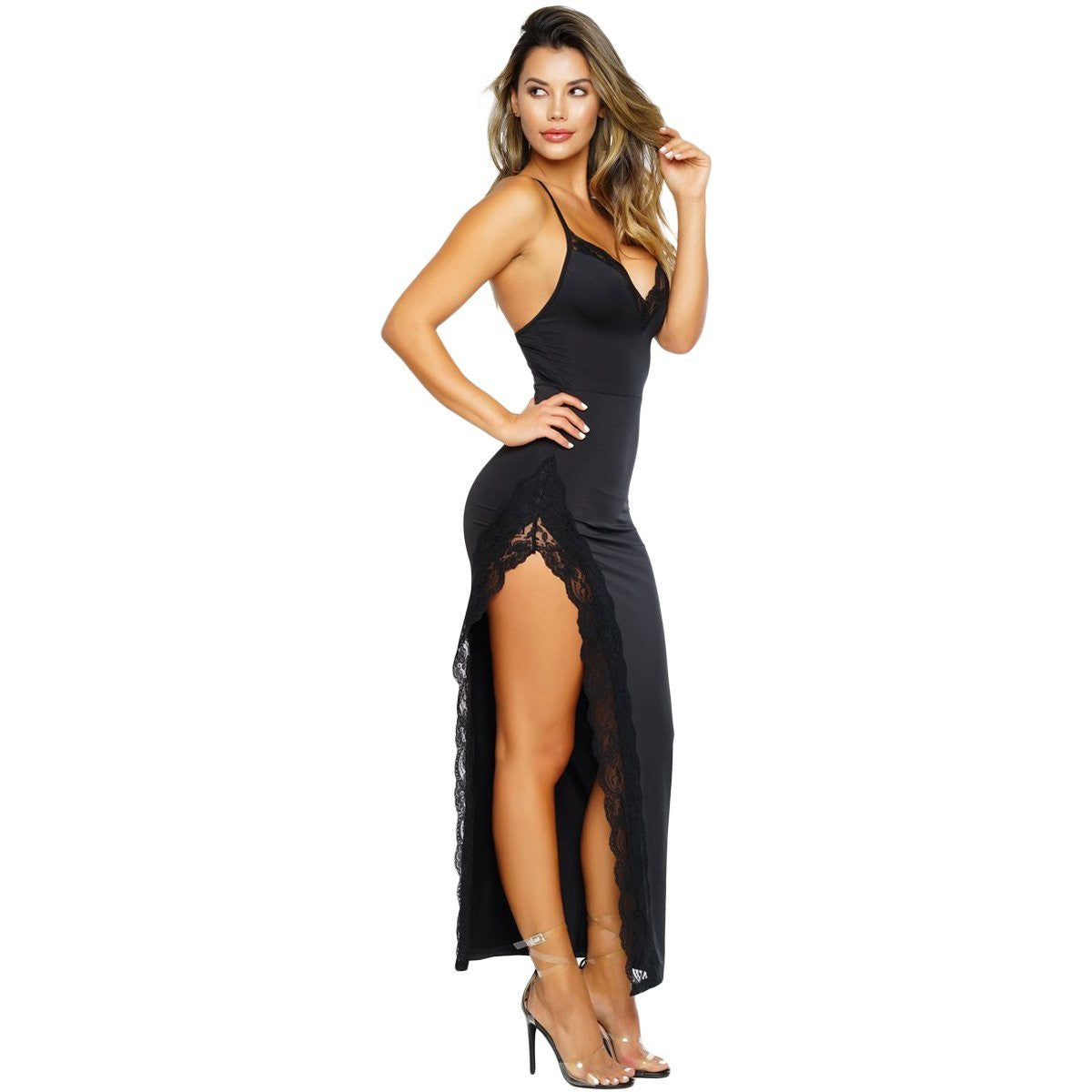 KELLIPS Black Sleeveless Party Maxi Dress - KELLIPS