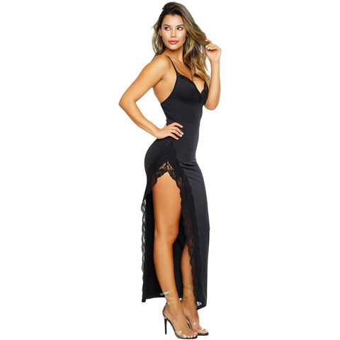 KELLIPS Black Sleeveless Party Maxi Dress