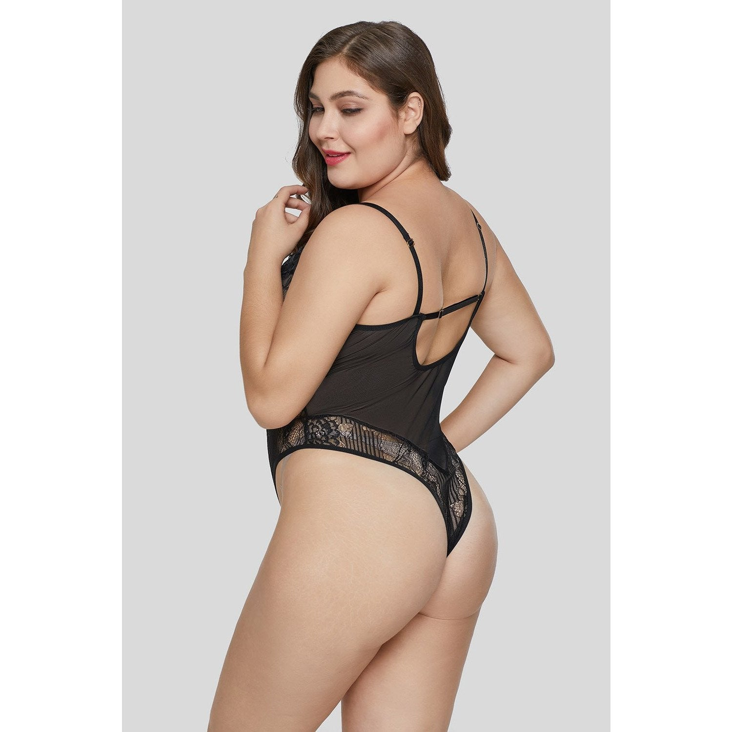 ec959b777 KELLIPS Black Plus Size Teddy Lingerie - KELLIPS