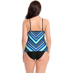 KELLIPS Blue Scalloped Print Swimsuit - KELLIPS