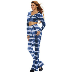 KELLIPS Blue Tie Dye Print Sexy Two Piece Pant Set SALE - KELLIPS