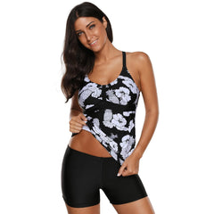 KELLIPS Black Sexy Tankini Swimwear With Padded - KELLIPS