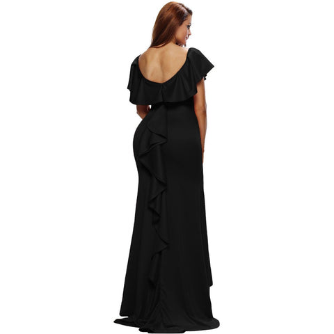 KELLIPS Gorgeous Cocktail Black Party Gown