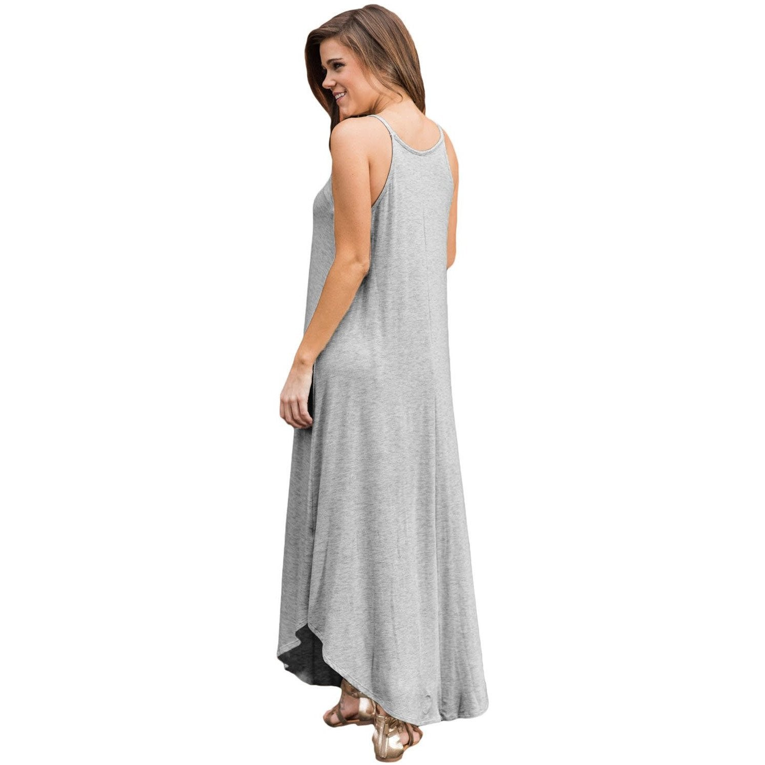 626faa7457f Light Gray Sexy Chic Sleeveless Maxi Dress - Maxi Dress