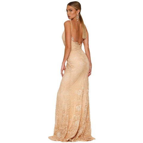 KELLIPS Nude Yum Wedding Party Gown