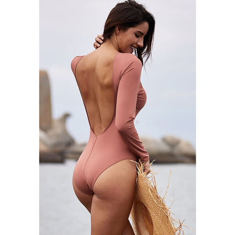 KELLIPS Pink Sexy Lace Up Swimsuit
