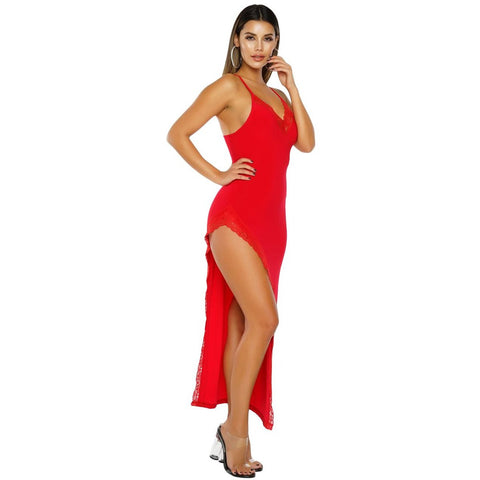 KELLIPS Red Sleeveless Party Dress