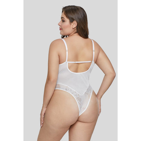 KELLIPS White Plus Size Teddy Lingerie