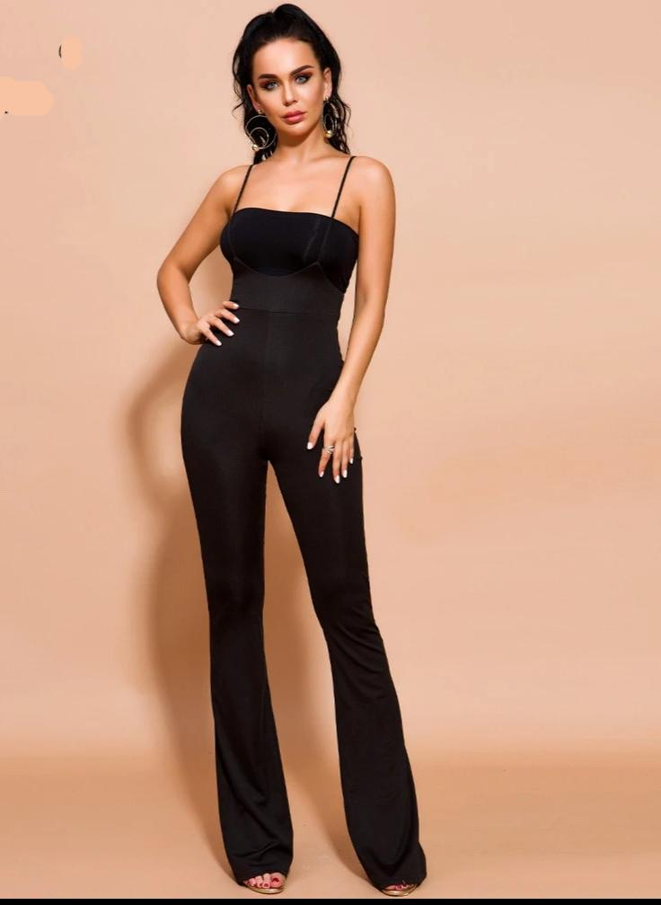KELLIPS Sexy Off Shoulder Backless Jumpsuit