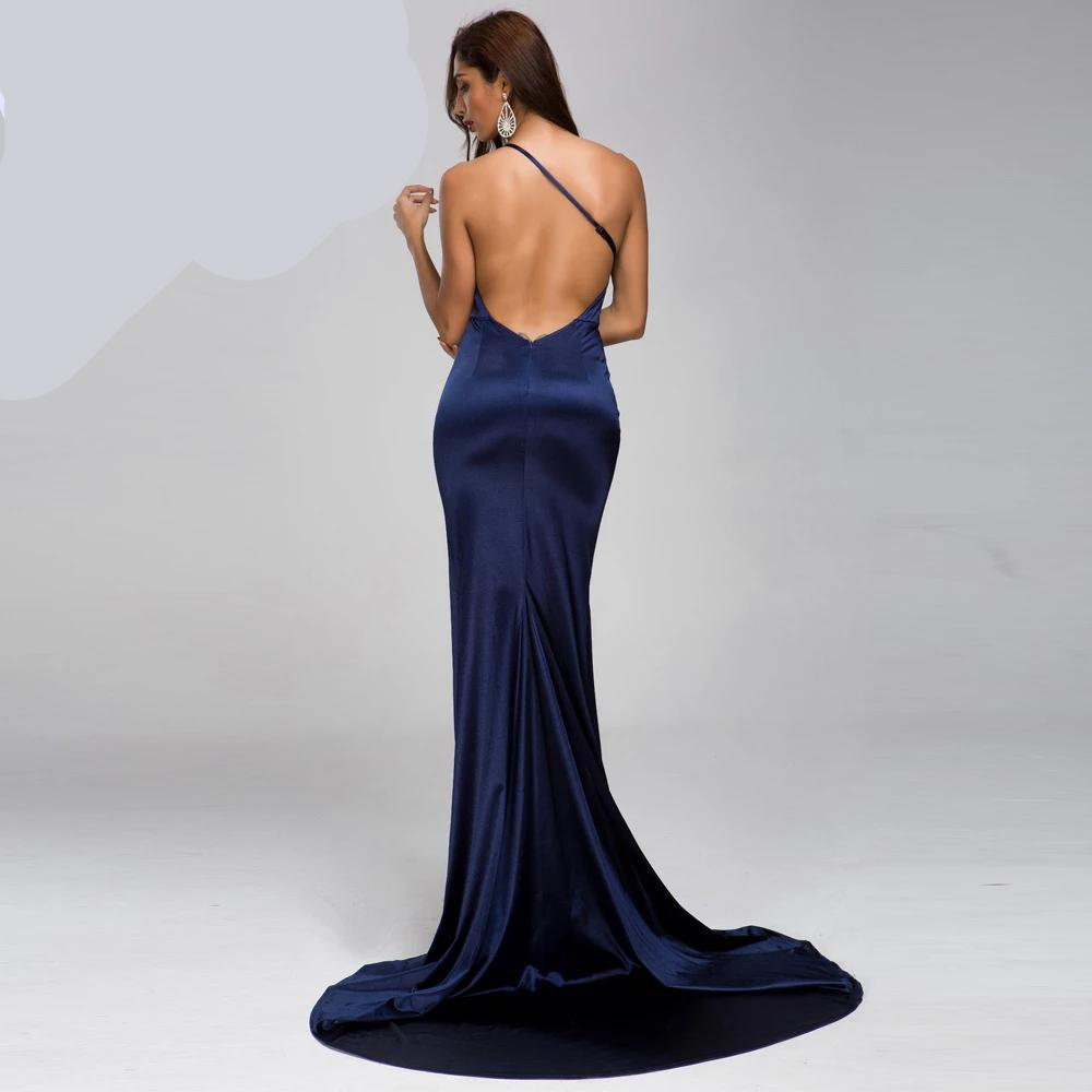 KELLIPS Sleeveless Backless Elegant High Split Maxi Dress