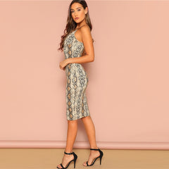 Sexy Party Backless Cami Sleeveless Pencil Skinny Club Midi Dress