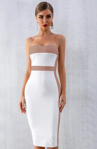 KELLIPS Sleeveless Elegant Bandage Party Dress