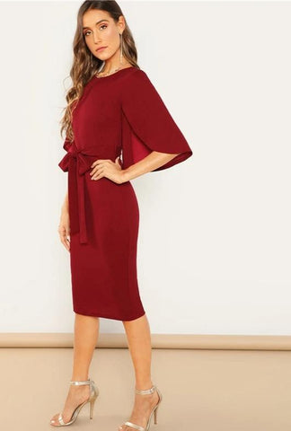 KELLIPS Casual Round Neck Modern Lady Dresses