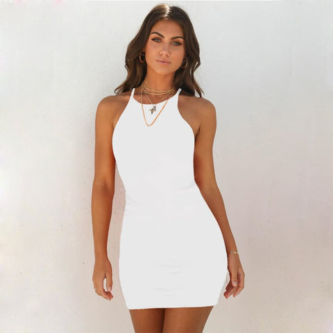 KELLIPS Fashion Summer Slash Neck Dress
