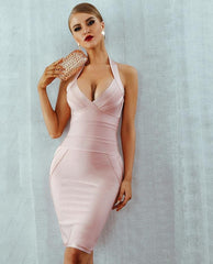 KELLIPS Backless Sleeveless Bodycon Bandage  Party Dress