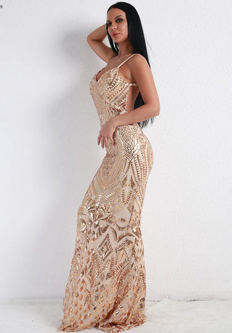 KELLIPS Sexy Off Shoulder Sequin Dress