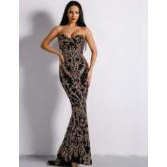 KELLIPS Sequin Floor Length Party Elegant Dress